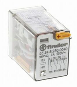 1XFinder- 55.34.8.230.0040 - Relais - 4 RT- Enfichable, bobine 230Vac