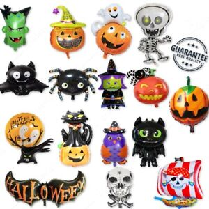 NEW HAPPY HALLOWEEN THEME FESTIVAL FOIL BALLOON PUMPKIN SPIDER SKELETON BALOONS