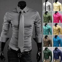 Hot Sale! New Mens Awesome Fashion Slim Fit Formal Casual PSS Shirt 6 Colors