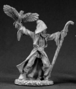1x WIZARD w EAGLE - DARK HEAVEN LEGENDS REAPER miniature jdr rpg magicien 03335l