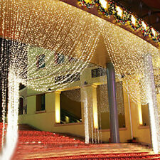 Curtain Fairy String Lights 3x3M 300LED Wedding Backdrop Wall Window Xmas Decor