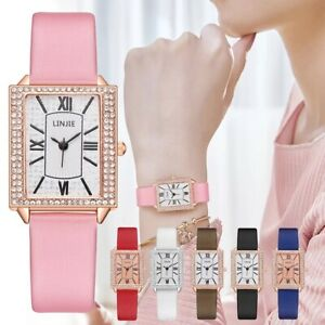 Ladies Womens Watches Quartz Analogue Stone Wrist Watch Casual Fashion Gift Uk