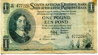 11 November 1950 South Africa 1 Een Pound, Pick-92c, VG, Some Staining