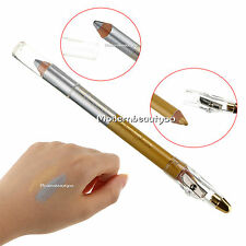 Makeup Duo Eye Shadow Pencil Eyeshadow Pen Eyeliner Liner Pearl Gold & Silver 01