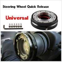 Universal 6 Hole Bolt Ball Steering Wheel Quick Release Hub Adapter Kit black