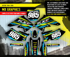 2004 2005 KXF 250 GRAPHICS KAWASAKI KX250F MOTOCROSS DIRT BIKE DECAL