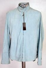 Alfred Dunhill Goat Suede Leather Jacket Glove Blue EU50 Medium Large RRP £995