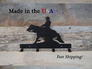 Horseback Rider Metal Key Hook, Western, Home Decor, Wall Art, Key Holder,CR1030
