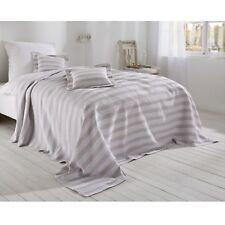 Überwurf Sarina Bettüberwurf Sofa Couch Tagesdecke Decke sand weiß 220 x 240 cm