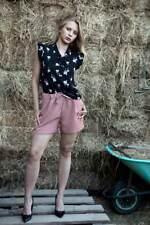 Shorts donna con pizzo colore rosa scuro