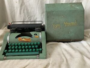 Vintage Tom Thumb Child's Typewriter with Metal Carrying Case 1950s