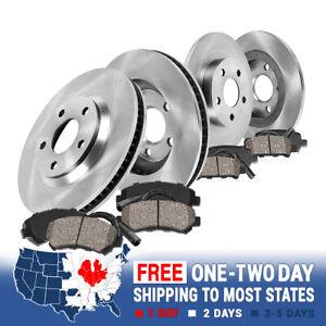 Front+Rear Rotors & Ceramic Pads For VW GOLF 2.0L TDI JETTA SEDAN WAGON RABBIT