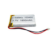 3.7V 1850 mAh Li-polymer Lithium Rechargeable Li-ion Connector 103450 for GPS
