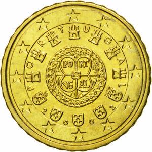 [#580288] Portugal, 10 Euro Cent, 2002, FDC, Laiton, KM:743