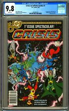 DC CRISIS ON INFINITE EARTHS #1 CGC 9.8 WP - NM/MT - NEWSSTAND EDITION