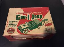 Gee-l Jeep Vintage Battery Operated Toy Jeep  No. 81 W/ Box General Molds ARMY