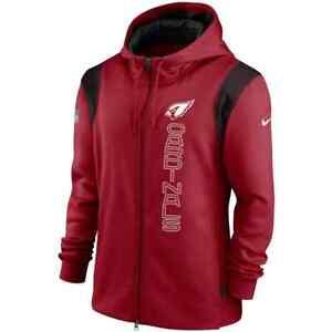 New 2021 NFL Arizona Cardinals Nike Sideline Team Performance Full-Zip Hoodie AZ