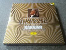 DG DIGITAL 415 066  BEETHOVEN 9 SYMPHONIES  KARAJAN 7 LP BOX SET GERMANY NR MINT
