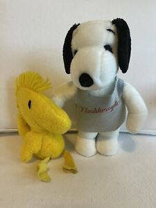 Snoopy & Woodstock Plush - Charlie Brown / Peanuts / Snoopy - 1960s Stuffed Toy