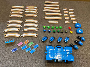 BRIO Network EMO Mail Set Wooden Track Trains Figures. RARE