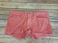 J Brand Distressed Pink Denim Jean Shorts Womens size 26 Coral Peach