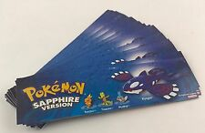 1X Pokemon Sapphire Version Promo Promotional Display Bookmark Artwork Nintendo