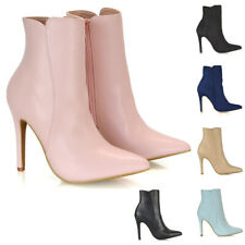 Womens Ankle Boots Ladies Stiletto Pointed Toe Evening Party Booties Shoes Size