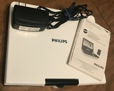 PHILIPS PORTABLE DVD PLAYER DCP750/37 AWESOME! White! Watch movies anywhere!!!
