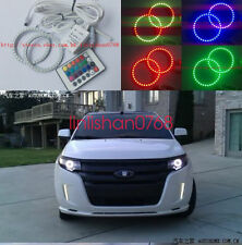 2x Excellent RGB Multi-Color Angel Eyes Halo Ring angel For Ford Edge 2011-2013