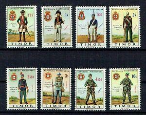 Portuguese Timor MNH complete set #340-7 Scott #323-32 Military Uniforms Army'67