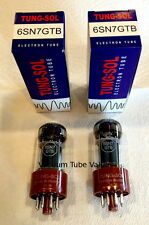 Tung-Sol TWO Factory Tested PAIR 6SN7 6SN7GTB Tubes, NEW
