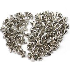 100pcs Silver Punk Spike Rivet Screw Bead DIY Metal Cone Studs Nailhead Spot