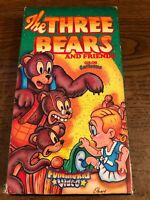 The Three Bears And Friends VCR VHS Tape Movie Cartoon NR Used RARE