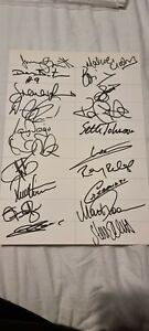 Derby County 1999/2000 Football Hand Signed Team Sheet