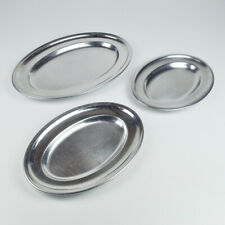 3 Serving Platter Bowl - 18/8 Stainless Steel Cromargan - 2 X WMF - 1 X Dvn