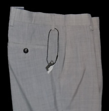 M&S Collection Wool Blend Slim Fit Light Grey Trousers Cost 44 30W 33L