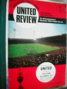 MANCHESTER UNITED v ITALIAN OLYMPIC XI 15.8.1967 Friendly Complete with Token