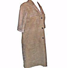 Escada Savannah Tan Lambskin Leather Suede Shirt Dress Medium 38 Spot on Front