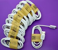 20x Wholesale Lot of White Micro USB Cable Charger Cord to Charge Samsung Galaxy