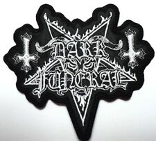 DARK FUNERAL WHITE SHAPED LOGO   EMBROIDERED PATCH