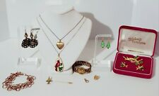 Antique Estate Vintage Gold Filled Jewelry Lot. Earrings, Necklaces, Brooch +++
