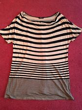 Women's brown & black stripped top from M&Co UK size XXL