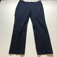 Loft Julie Straight Leg Pants Dark Blue Size 10 A1994