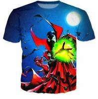 3D print Cartoon Spawn Fuuny Short Sleeve T-Shirt Fashion Unisex Casual Tops Tee