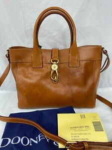 Dooney & Bourke Florentine Amelie Italian Leather Tote Bag Natural Gold NWT $418