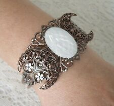 Copper Triple Moon Cuff Bracelet, wiccan pagan wicca goddess witch witchcraft