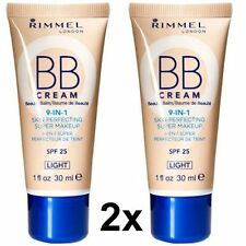2x Rimmel BB Cream, Skin Perfecting Super Makeup 9 in 1 ~ shade Light. 30ml