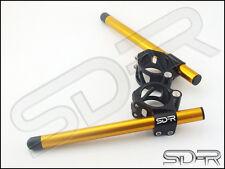 SD-R Clamp Clip On Handle Bars Gold Kawasaki ZX6 / ZX6RR / 636 2003 - 2008