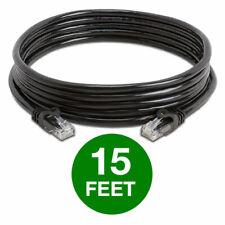 Cat6 Cat 6 Ethernet Cable Lan Network Rj45 Internet Router Black Patch Cord Lot