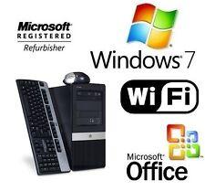 HP AMD FAST DUAL CORE WINDOWS 7 PRO 64 DESKTOP 8GB WiFi PC 1TB TOWER + MS OFFICE
